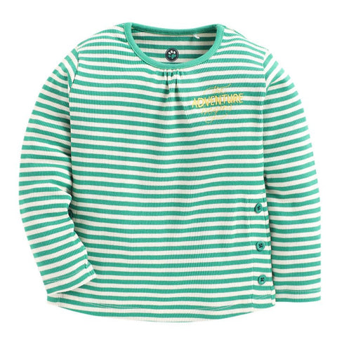 JusCubs Green Strip Full Sleeve Top