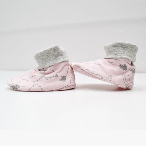 JusCubs Cotton Bootees (Baby Shoe) Pink