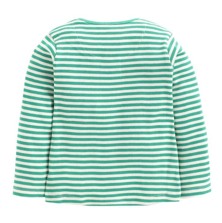 JusCubs Toddlers Green Strip Full Sleeve Top