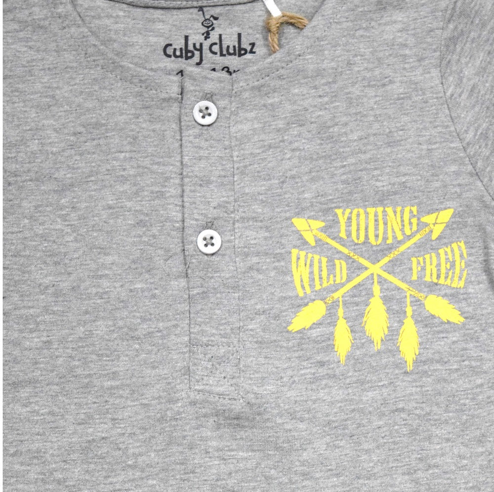 Cuby Clubz Wild  Young Free Print Full Sleeve T-Shirt
