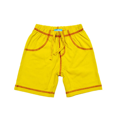 JusCubs Boys Plain Cotton Shorts - Yellow