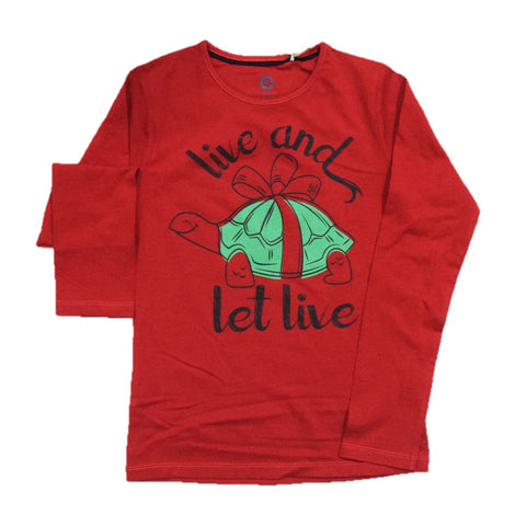 JusCubs Live And Let Live Full Sleeve T-Shirt