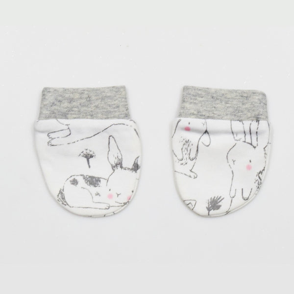 Jus Cubs Cotton Printed Baby Gloves (Mittens)