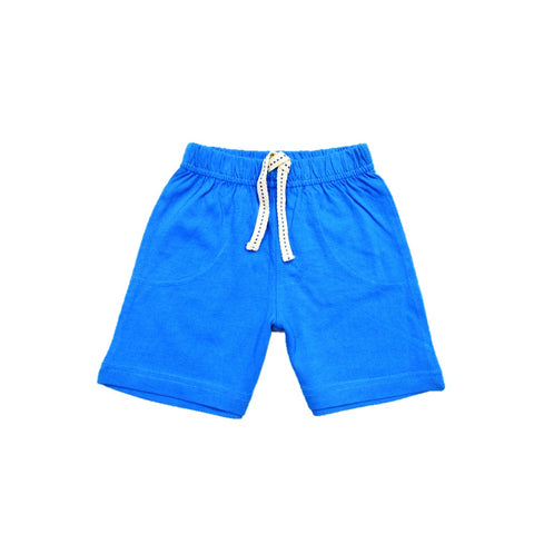 JusCubs Boys Plain Cotton Shorts - Indigo
