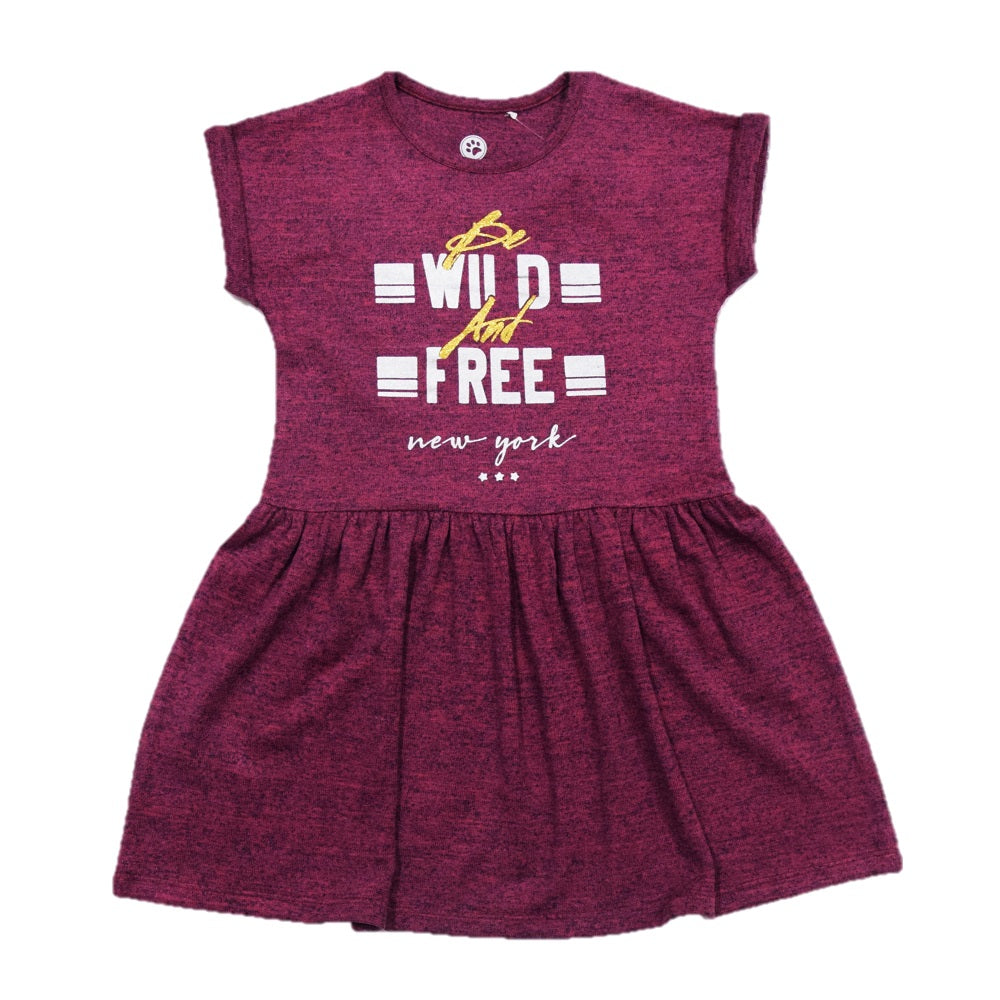 JusCubs Girls Be Wild & Free Frock