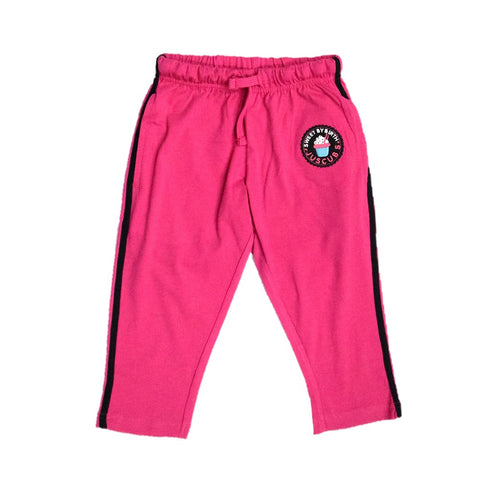 Juscubs Sweet By Birth Patch Embroidery Track Pant 3/4th