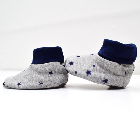 JusCubs Cotton Bootees (Baby Shoe) Grey