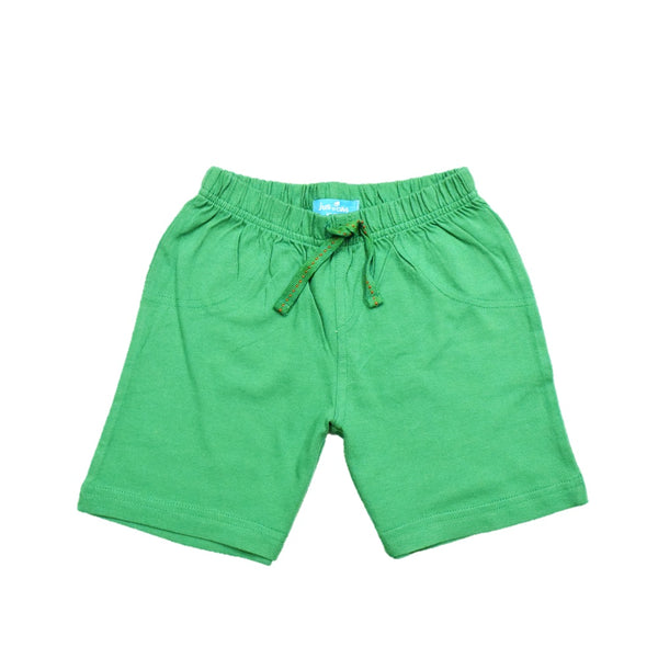 JusCubs Boys Plain Cotton Shorts - Green