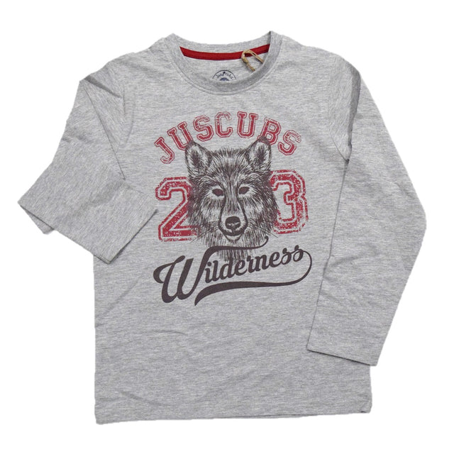 JusCubs Boys JC Wilderness Print  Full Sleeve T-Shirt