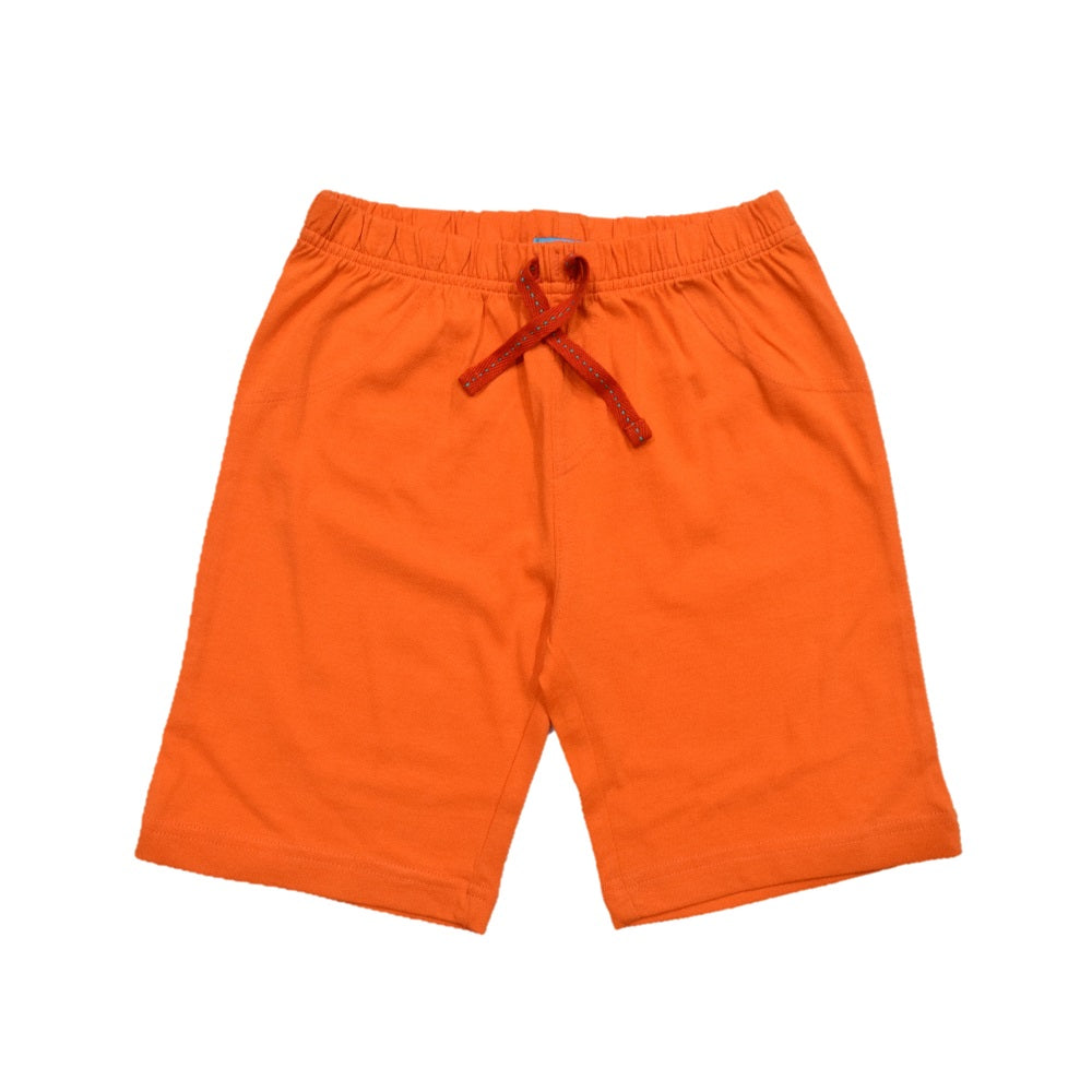 JusCubs Boys Plain Cotton Shorts - Orange