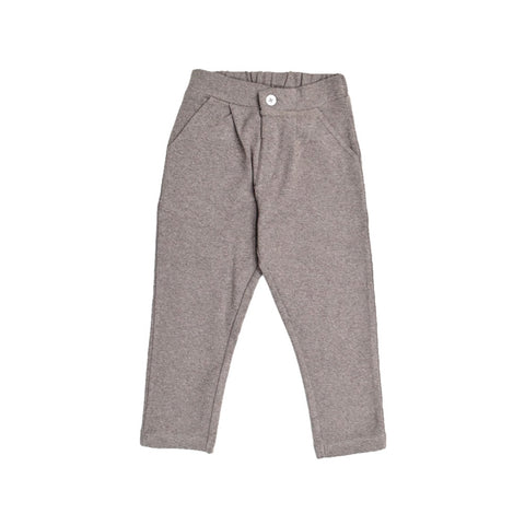 JusCubs Boys Fashion Cotton Pant - Brown Melange