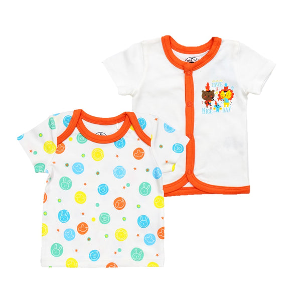 JusCubs Boys AOP-Solid-Jabla & T-Shirt Pack of 2