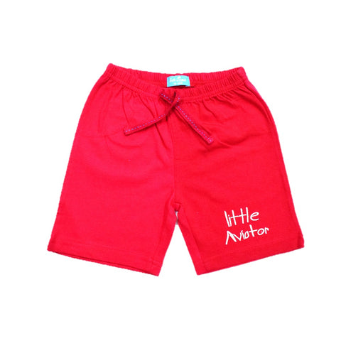 JusCubs Boys Little Aviator Cotton Shorts - Red