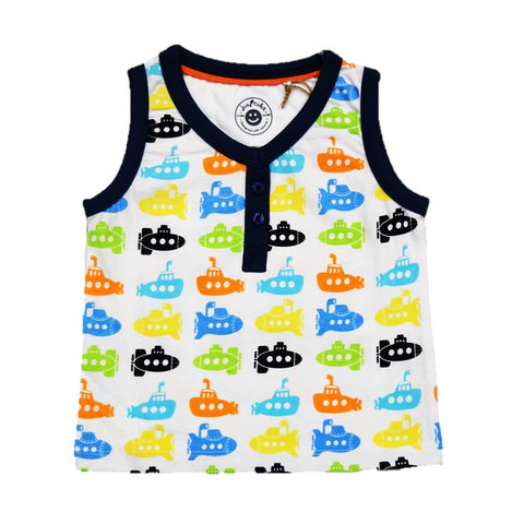 JusCubs Boys AOP Sleeveless -Tee