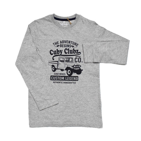 Cuby Clubz The Adventurer Print Full Sleeve T-Shirt