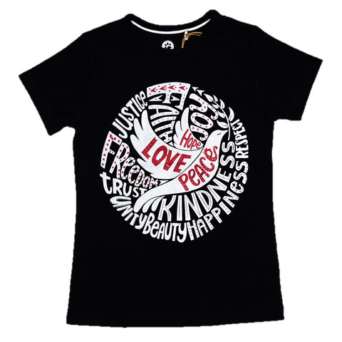 JusCubs Girls Love Print T-Shirt