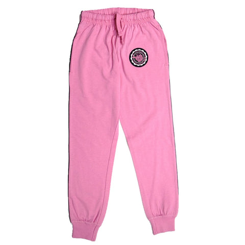 JusCubs Girls Jogger Rose Embroidery Patch