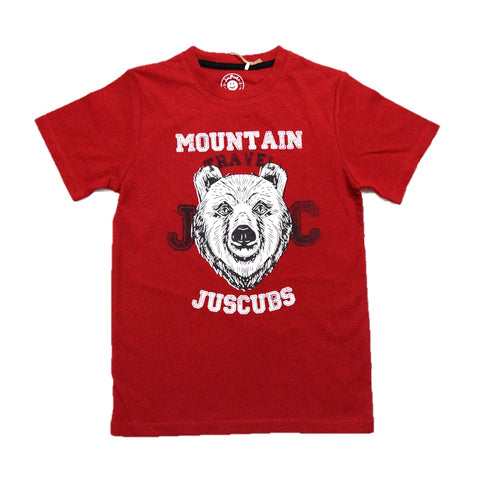 JusCubs Boys JC Mountain travel Print T-Shirt