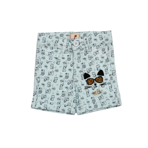 juscubs cat print woven shorts