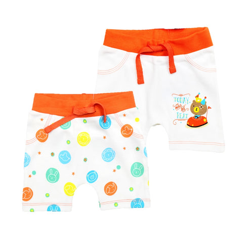 JusCubs Boys Shorts Solid-AOP  Pack of 2