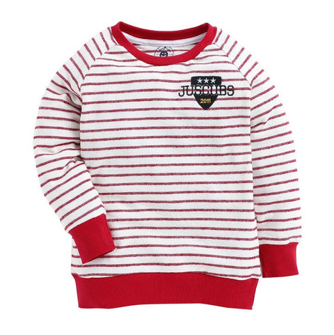 juscubs stripe sweatshirt