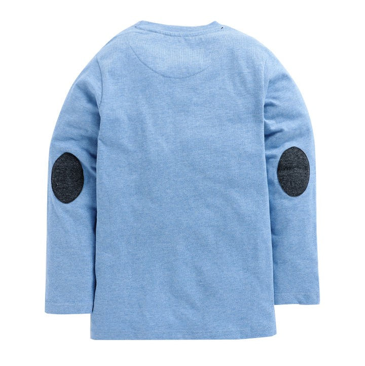 JusCubs Blue Text Print Full Sleeves T-Shirt