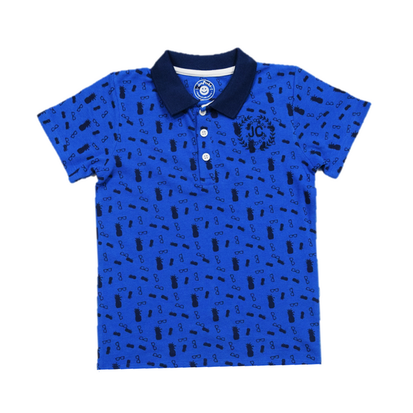 JusCubs Half Sleeves AOP Printed T-Shirt - Blue