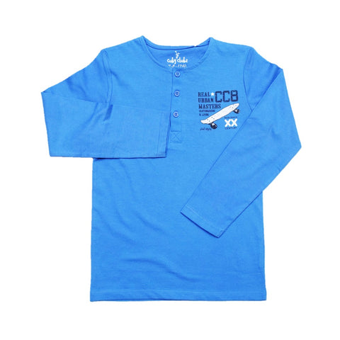 Cuby Clubz Skatebord  Print Boys Full Sleeve T-Shirt