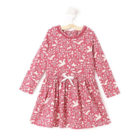 JusCubs Olders Pink Animal Print Full Sleeve Dress