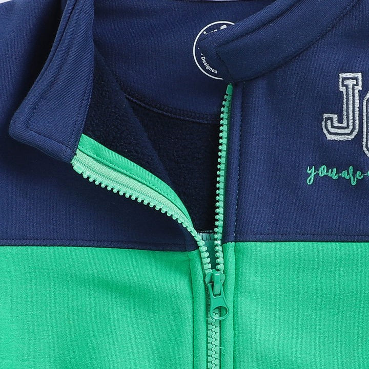 JusCubs Green Solid Full Sleeves Heavy Winter Jackets