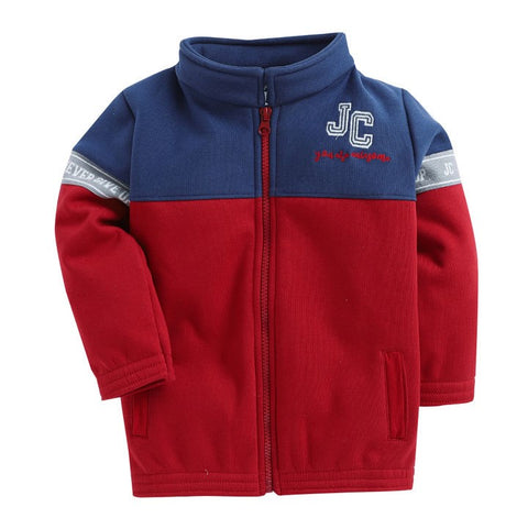 JusCubs Red Solid Full Sleeves Heavy Winter Jackets