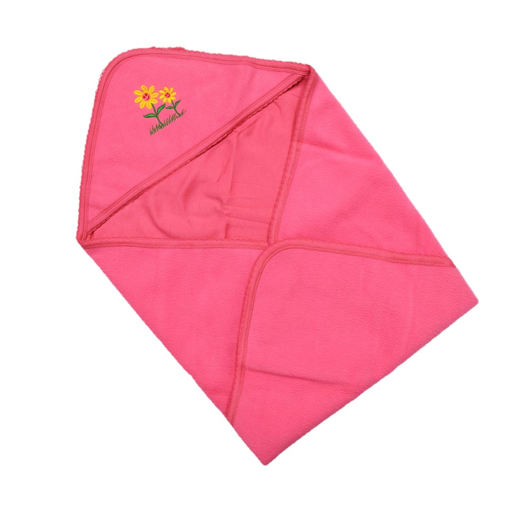 JusCubs Super Baby Wrap Combination of Fast Dry & Baby Wrap Hooded -Sun Flower - Pink