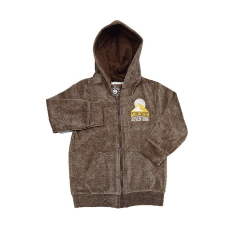Jus Cubs Boys Mountain Adventure Hoodie Jacket-Brown