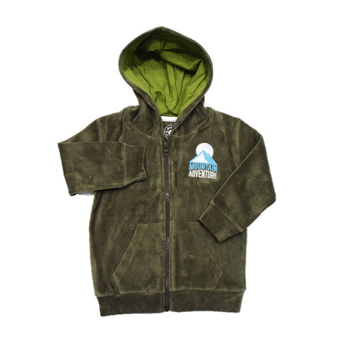 Jus Cubs Boys Mountain Adventure Hoodie Jacket-Olive