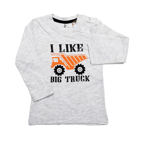 Cuby Clubz Like Big Truck Print Full Sleeve T-Shirt