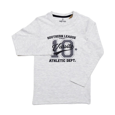 Cuby Clubz Southern League Print Boys Full Sleeve T-Shirt