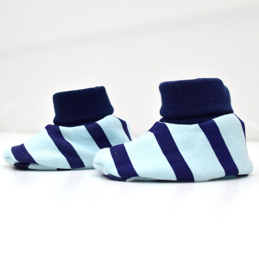JusCubs Cotton Bootees (Baby Shoe) Blue