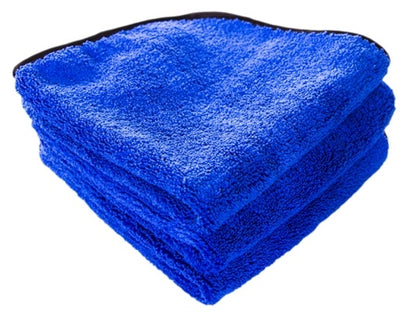 Fluffy Blue Silk Lined Microfiber (pack de 3) 40x40 cm