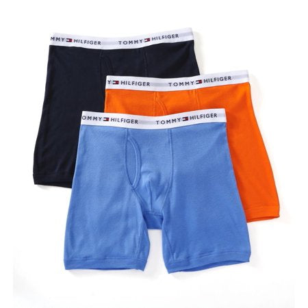Tommy Hilfiger 3 PACK CLASSIC BOXER BRIEF Men's - TEAL BLU/NAVY/BABY PINK - Moesports
