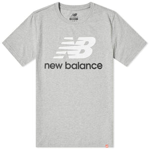 New Balance ATHLETIC ESSE ST LOGO TEE Men's - AG GRAY/WHITE/BLACK - Moesports