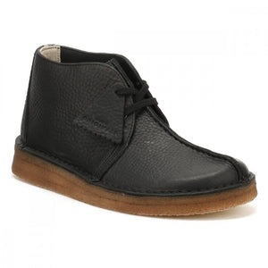 Clark's DESERTTREK HI Men's - BLACK LEATHER - Moesports
