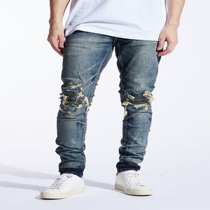Embellish Jeans FIZDALE RIP AND REPAIR Men's - WASHED BLU - Moesports