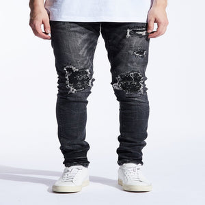 Embellish Jeans GENTRY RIP AND REPAIR Men's - WASHED BLK - Moesports