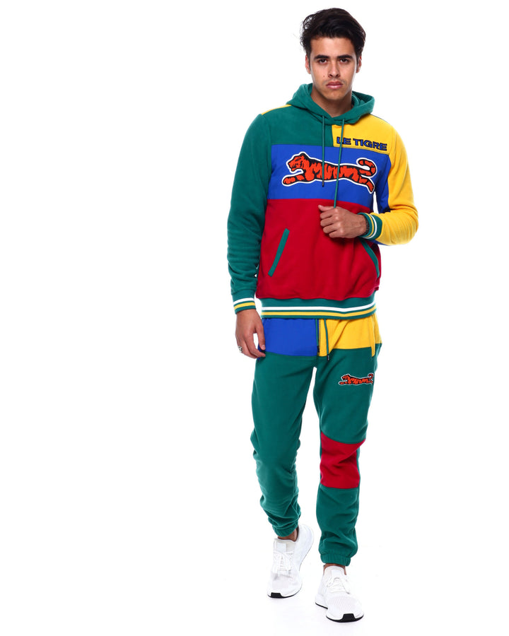 Le Tigre TILLY HOODIE SWEATSUIT Men's - YELLOW/GREEN/BLUE/RED - Moesports