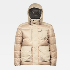 G-Star Raw UTILITY POCKET PUFFER JACKET Men's - LIGHT ROCK