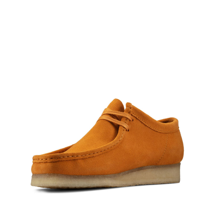 Clark's WALLABEE BOOT LOW SUEDE Men's TUMERIC ORANGE CURCUMA