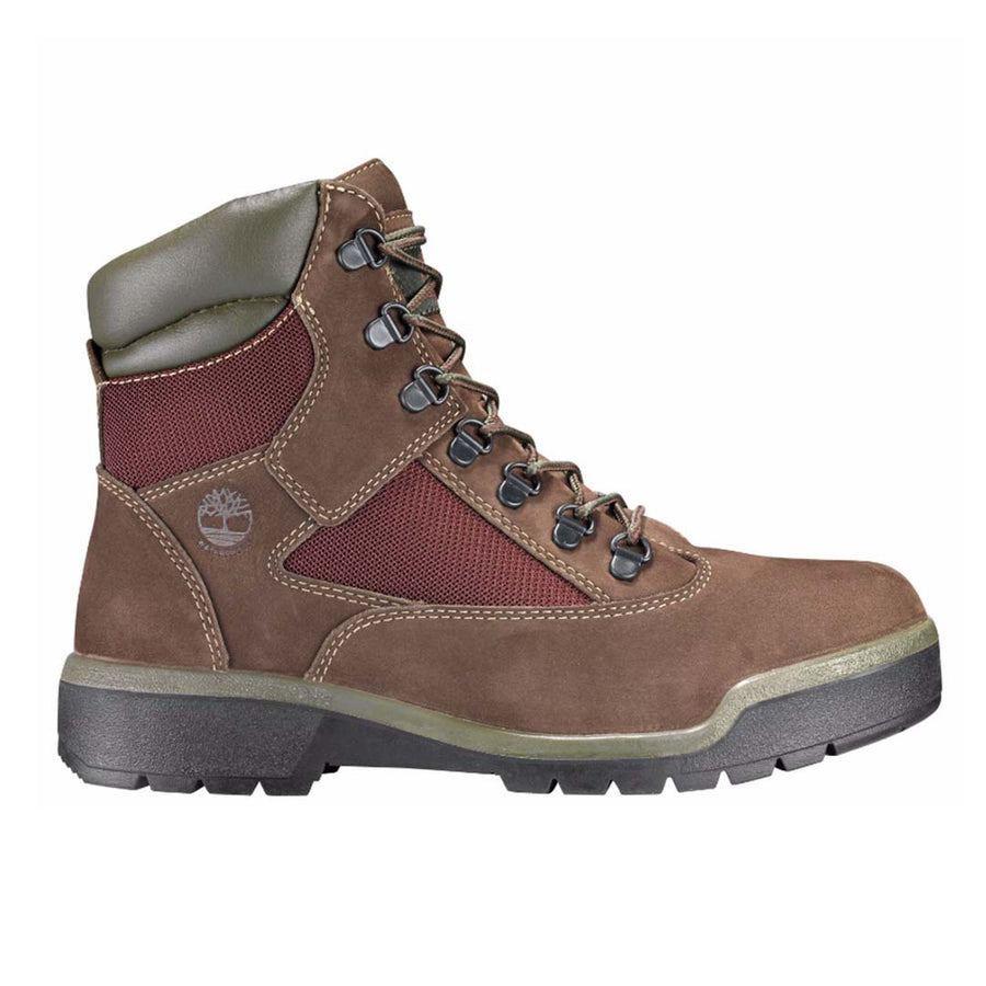 Timberland FIELD BOOT 6 IN WP L/F MID BOOT Men's - DARK BROWN NUBUCK - Moesports