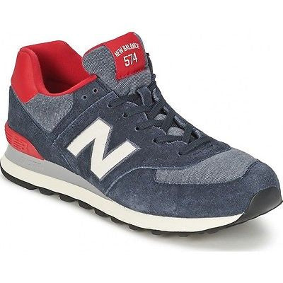New Balance 574 Classics Men's - NAVY BLUE/CREAM/RED - Moesports