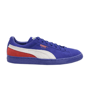 Puma SUEDE CLASSIC+ BLOCKED Men's - LIMOGES-WHITE-HIGH RISK RED - Moesports