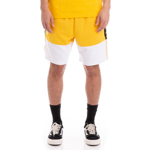 KAPPA MEN's AUTHENTIC BIPLUS YELLOW BLACK WHITE SHORTS - Moesports
